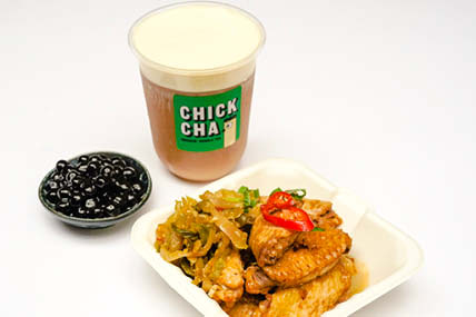ChickCha - Our Deadly Duos - Braised chicken wings + Snow Cream Earl Grey with Pearls
